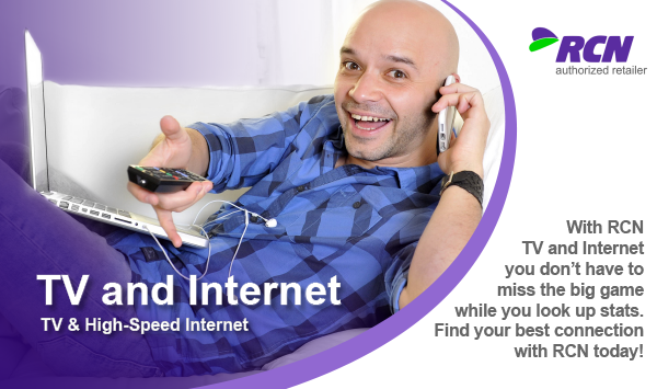 TV + Internet bundles, Internet and TV bundles, TV and Internet, Internet, TV, Bundles for TV and Internet, RCN Internet TV bundles, RCN TV, RCN TV and Internet