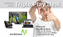 Windstream Triple Play, TV, Internet and Phone, Dish TV, high speed internet, home phone, Windstream bundles,